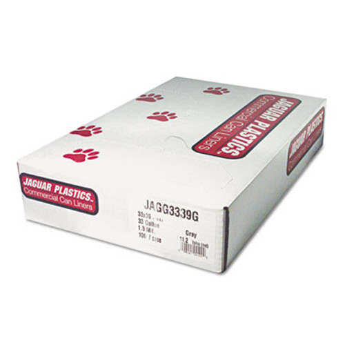 Jaguar Plastics Low-Density Can Liners, 12-16 Gallon, .35mil, Black, 500/Carton (JAG L2432L)