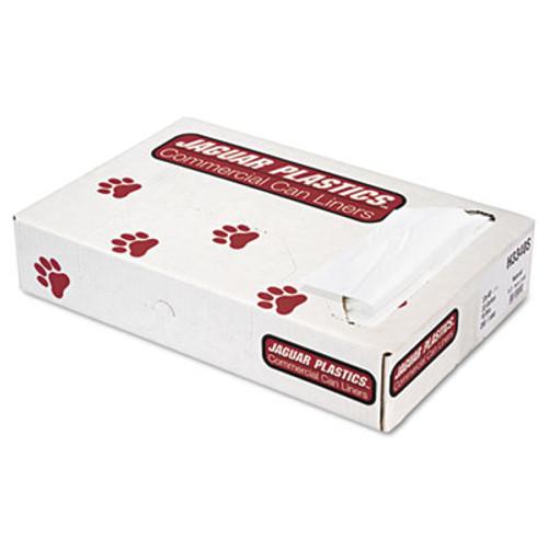 Jaguar Plastics Industrial Strength Commercial Can Liners Flat Pack  33 gal  16 microns  33  x 40   Natural  200 Carton (JAG H3340S)