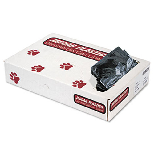 Jaguar Plastics Low-Density Commercial Can Liners, 56gal, 1.3mil, Gray, 100/Carton (JAG G4347G)