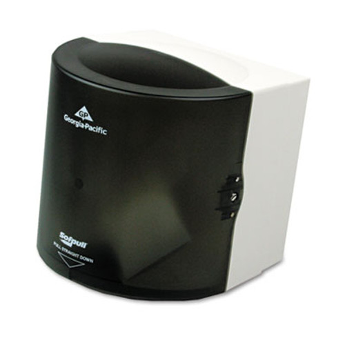 Georgia Pacific Professional Center Pull Hand Towel Dispenser  10 7 8w x 10 3 8d x 11 1 2h  Smoke (GPC 582-01)