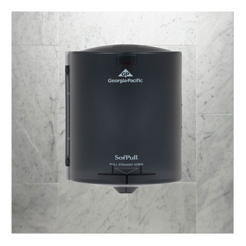 Georgia Pacific Professional Center Pull Hand Towel Dispenser  10 7 8w x 10 3 8d x 11 1 2h  Smoke (GPC 582-01)