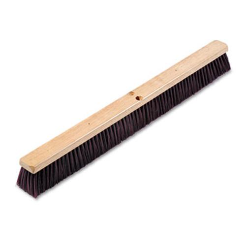 Boardwalk Floor Brush Head  3 1 4  Maroon Stiff Polypropylene  36  (BWK 20336)