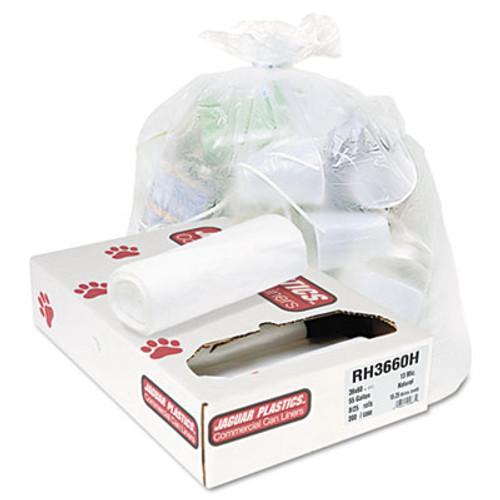 Jaguar Plastics Industrial Strength Commercial Coreless Roll Can Liners  55 gal  13 microns  36  x 60   Natural  200 Carton (JAG RH3660H)