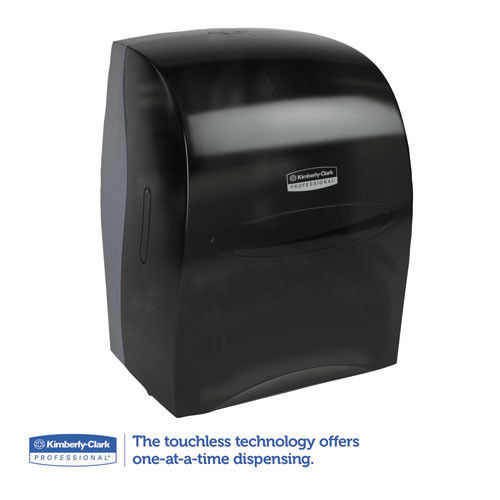 Kimberly-Clark Professional* Sanitouch Hard Roll Towel Disp  12 63 100w x 10 1 5d x 16 13 100h  Smoke (KCC 09990)