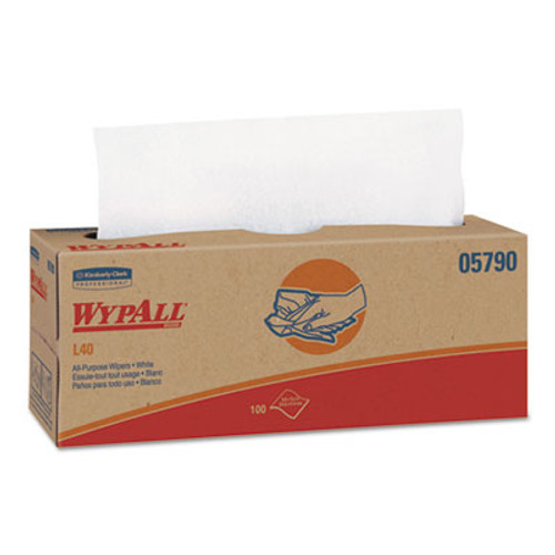 WypAll L40 Towels  POP-UP Box  White  16 2 5 x 9 4 5  100 Box  9 Boxes Carton (KCC 05790)