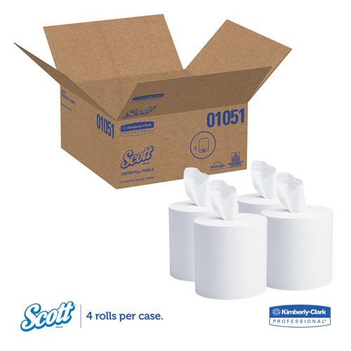 Scott Essential Center-Pull Towels  Absorbency Pockets  1 Ply  8x15  500 Roll  4 Rl CT (KCC 01051)