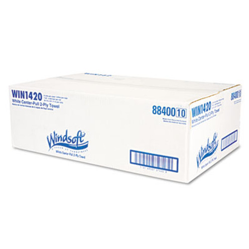 Windsoft Center-Flow Perforated Paper Towel Roll, 8 x 13 1/2, White, 6 Rolls/Carton (WIN 1420)