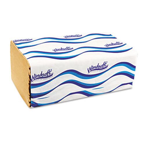 Windsoft Singlefold Towels  1 Ply  9 5 x 9   Natural  250 Pack  16 Packs Carton (WIN 106)