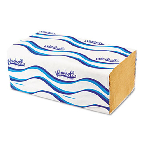 Windsoft Singlefold Towels  1 Ply  9 5 x 9   Natural  250 Pack  16 Packs Carton (WIN 106)