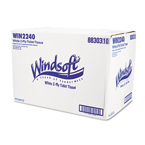 Windsoft Single Roll Bath Tissue, 500 Sheets/Roll, 96 Rolls/Carton (WIN 2240)