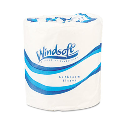 Windsoft Single Roll Bath One-Ply Bath Tissue, 1000 Sheets/Roll, 96 Rolls/Carton (WIN 2210)