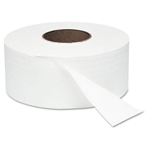 "Windsoft White Jumbo Roll Bath Tissue, 9"" dia, 1000ft, 12 Rolls/Carton (WIN 202)"