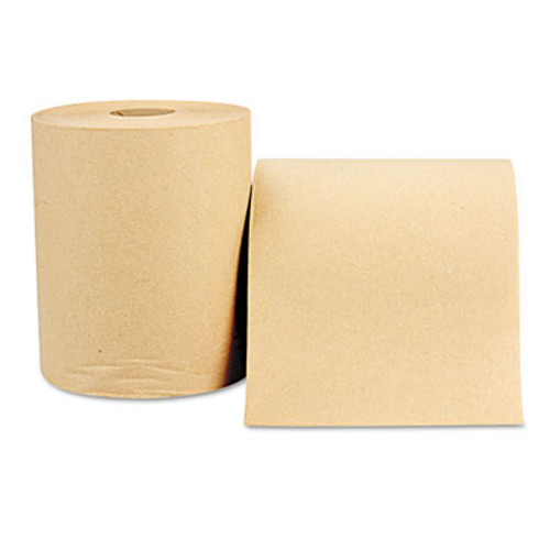Windsoft Nonperforated Paper Towel Roll, 8 x 800ft, Brown, 12 Rolls/Carton (WIN 1280)