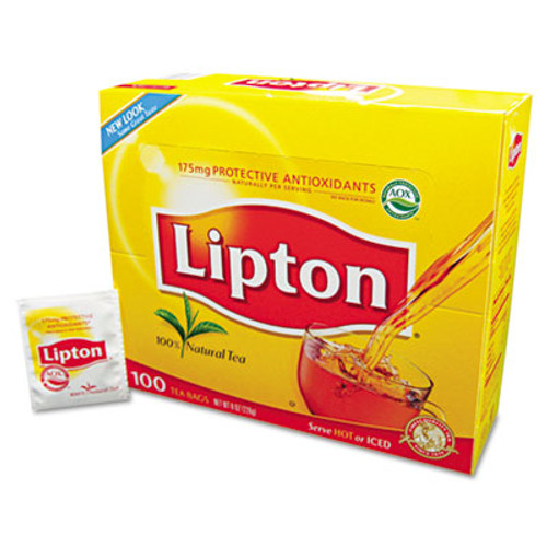 Lipton Tea Bags, Regular, 100/Box (LIP 291)