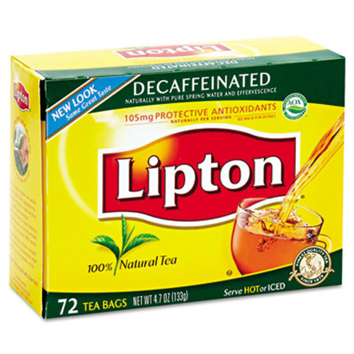Lipton Tea Bags  Decaffeinated  72 Box (LIP 290)