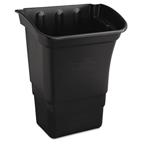 Rubbermaid Commercial Optional Utility Cart Refuse Utility Bin  Rectangular  8 gal  Black (RCP 3353-88 BLA)