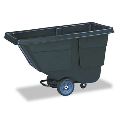 Rubbermaid Commercial Tilt Truck  Rectangular  Plastic with Steel Frame  300 lb Capacity  Black (RCP 9T17 BLA)