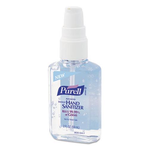 PURELL Advanced Hand Sanitizer Refreshing Gel  Clean Scent  2 oz Personal Pump Bottle  24 Carton (GOJ 9606-24)