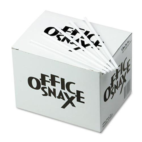 Office Snax Plastic Stir Sticks  5   Plastic  White  1000 Box (OFX STR5)