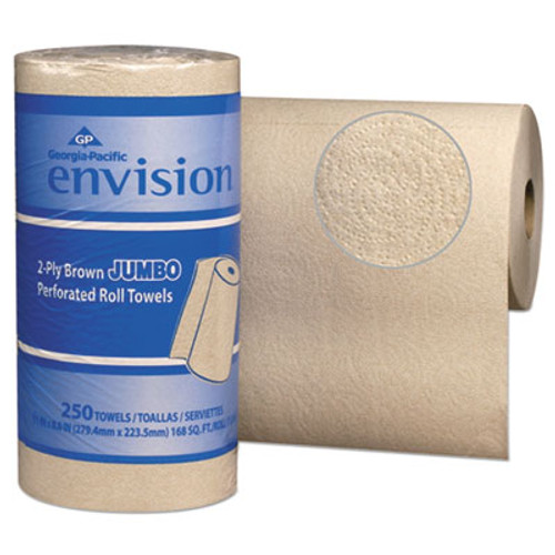 Georgia Pacific Professional Perforated Paper Towel, 11 x 8 4/5, Brown, 250/Roll, 12/Packs/Carton (GPC 282-90)