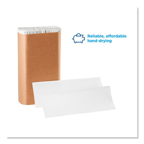 Georgia Pacific Professional Pacific Blue Basic M-Fold Paper Towels  9 1 5 x 9 2 5  White  250 Pack  16 PK CT (GPC 245-90)