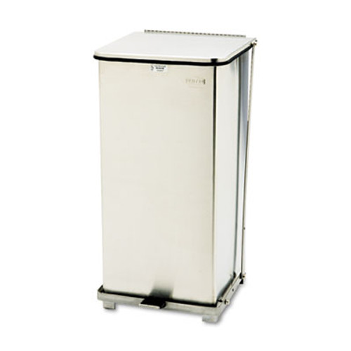 Rubbermaid Commercial Defenders Biohazard Step Can  Square  Steel  24 gal  Stainless Steel (RCP ST24SSPL)