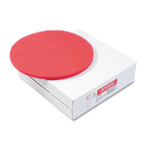 Boardwalk Buffing Floor Pads  20  Diameter  Red  5 Carton (PAD 4020 RED)