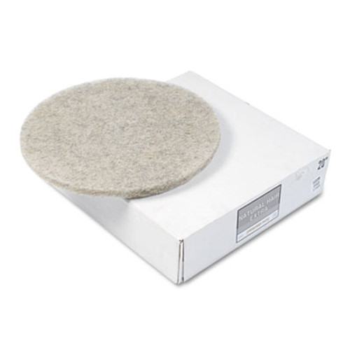 Boardwalk Natural Hog Hair Burnishing Floor Pads  20  Diameter  5 Carton (PAD 4020 NHE)