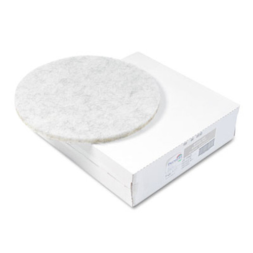 Boardwalk Natural White Burnishing Floor Pads  20  Diameter  5 Carton (PAD 4020 NAT)