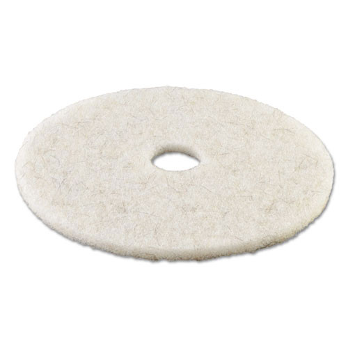 Boardwalk Natural White Burnishing Floor Pads  20  Diameter  5 Carton (PAD 4020 NAT)