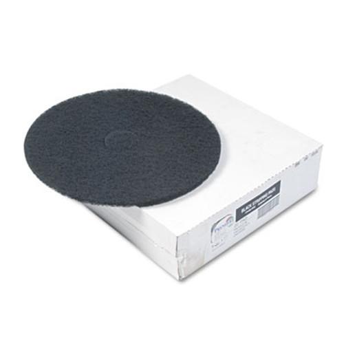 """Boardwalk Standard Floor Pads, 20"""" dia, Black, 5/Carton (PAD 4020 BLA)"""