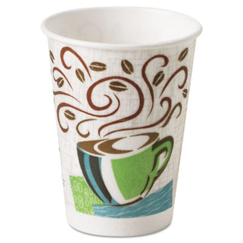 Dixie Hot Cups  Paper  8oz  Coffee Dreams Design  500 Carton (DIX 5338DX)