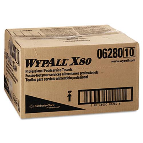 WypAll X80 Foodservice Towel  Kimfresh Antimicrobial Hydroknit  12 1 2 x 23 1 2  150 Ct (KCC 06280)