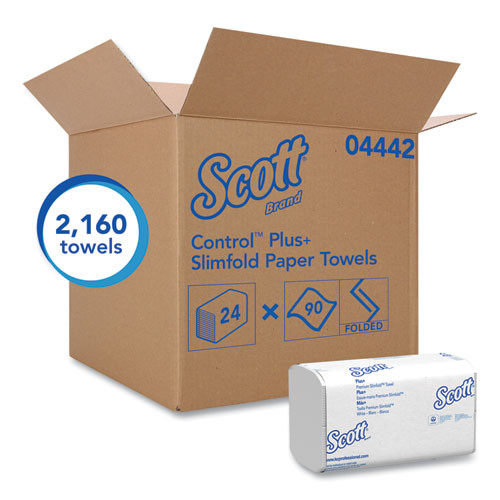 Scott Control Slimfold Towels  7 1 2 x 11 3 5  White  90 Pack  24 Packs Carton (KCC 04442)
