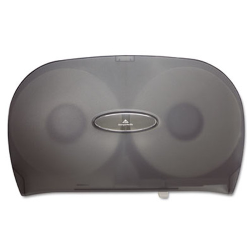 Georgia Pacific Professional Jumbo Jr. Two-Roll Bathroom Tissue Dispenser, 20 1/50 x5 2/5 x 12 1/4, Smoke (GPC 592-09)