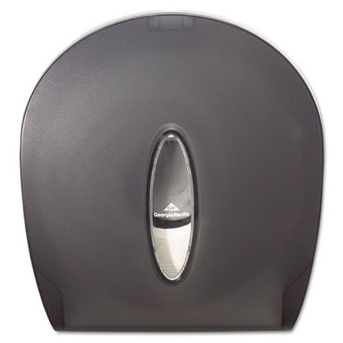 Georgia Pacific Professional Jumbo Jr  Bathroom Tissue Dispenser  Single Roll  10 6  x 5 4  x 11 3   Translucent Smoke (GPC 590-09)