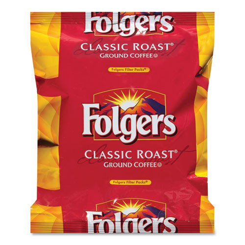 Folgers Coffee Filter Packs  Classic Roast   9 oz  10 Filters Pack  4 Packs Carton (SMU 06239)