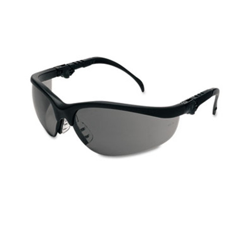 Crews Klondike Plus Safety Glasses, Black Frame, Gray Lens (MCR KD312)