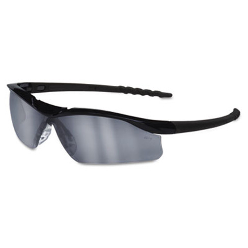 Crews Dallas Wraparound Safety Glasses, Black Frame, Gray Indoor/Outdoor Lens (MCR DL119AF)