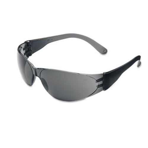 Crews Checklite Scratch-Resistant Safety Glasses, Gray Lens (CWS CL112)