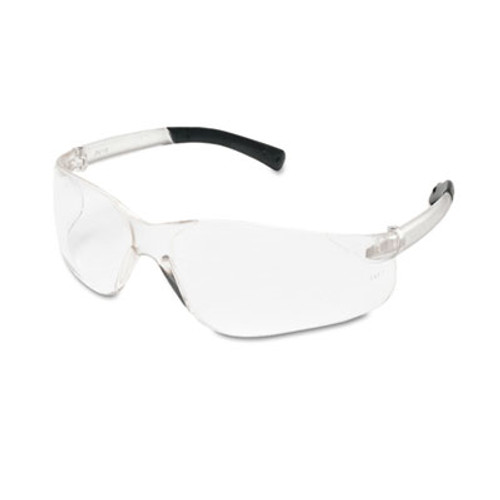 Crews BearKat Safety Glasses, Wraparound, Black Frame/Clear Lens (CWS BK110)