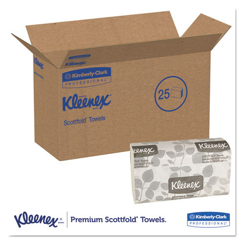 Kleenex Premiere Folded Towels  9 2 5 x 12 2 5  White  120 Pack  25 Packs Carton (KCC 13254)