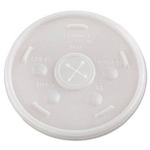 Dart Plastic Cold Cup Lids, 24oz, Translucent, 500/Carton (DCC 24SL05)