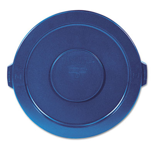 Rubbermaid Commercial Round Flat Top Lid  for 32 gal Round BRUTE Containers  22 25  diameter  Blue (RCP 2631 BLU)