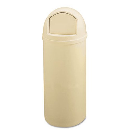 Rubbermaid Commercial Marshal Classic Container  Round  Polyethylene  25 gal  Beige (RCP 8170-88 BEI)