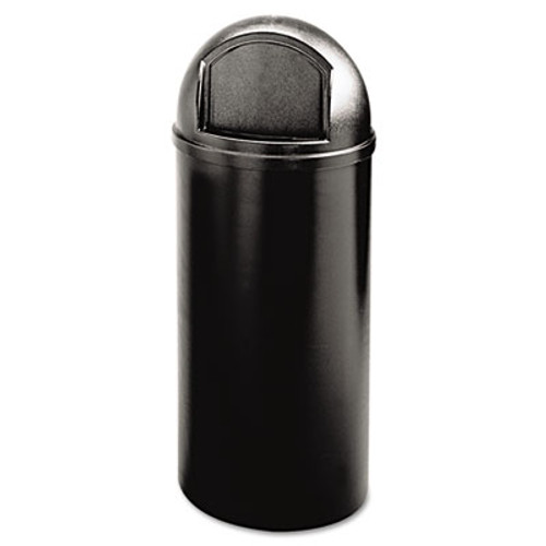 Rubbermaid Commercial Marshal Classic Container  Round  Polyethylene  15 gal  Black (RCP 8160-88 BLA)