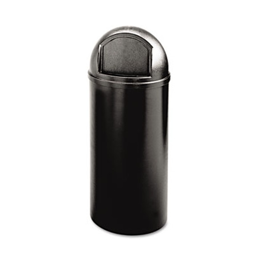 Rubbermaid Commercial Marshal Classic Container, Round, Polyethylene, 25gal, Black (RCP 8170-88 BLA)