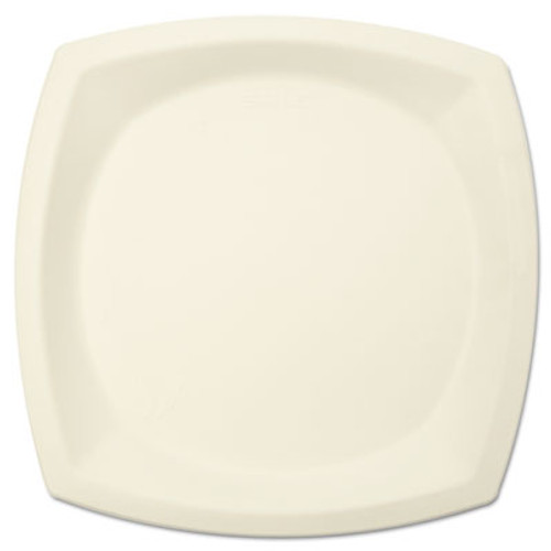 """SOLO Cup Company Bare Eco-Forward Sugarcane Plate Perfect Pak, 10"""" dia, Ivory, 125/Pk (SCC 10PSC)"""
