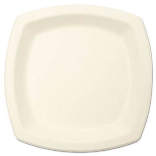 "SOLO Cup Company Bare Eco-Forward Sugarcane Dinnerware Perfect Pak, 6 7/10"" Plate, Ivory, 125/Pk (SCC 6PSC)"