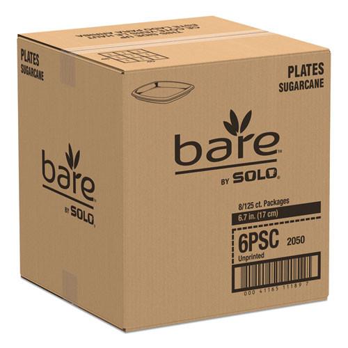 Dart Bare Eco-Forward Sugarcane Dinnerware  6 7 10  Plate  Ivory  125 Pk (SCC 6PSC)